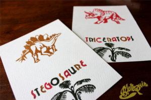 deux cartes dinosaure